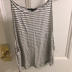 Forever 21 grey and white stripe tank